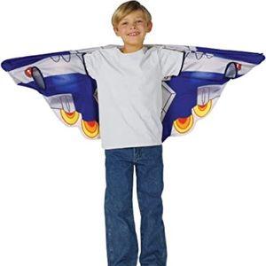 Cozy wings kids wrap around blanket spaceship